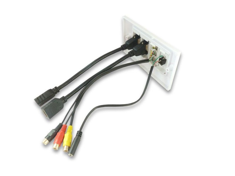 5mm Socket Connector 3 Rca Av